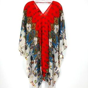 Dance & Marvel Paisley Print Kimono Size L